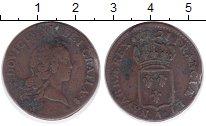 Изображение Монеты Франция 1/2 соля 1721 Медь VF