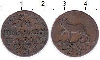 Изображение Монеты Анхальт-Бернбург 1 1/2 пфеннига 1776 Медь XF-