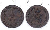 Изображение Монеты Мекленбург-Стрелитц 1 пфенниг 1872 Медь XF