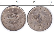 Изображение Монеты Турция 1 куруш 1910 Серебро UNC- Мухаммад V