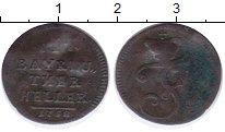 Изображение Монеты Германия Бранденбург 1 хеллер 1752 Медь VF-