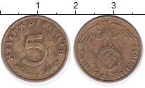 Изображение Монеты Третий Рейх 5 пфеннигов 1937 Латунь XF F