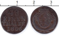 Изображение Монеты Саксония 1/48 талера 1806 Серебро VF