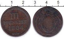 Изображение Монеты Саксония 3 пфеннига 1804 Медь VF