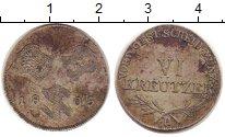 Изображение Монеты Швабия 6 крейцеров 1805 Серебро XF-