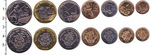 Изображение Наборы монет Сейшелы Сейшелы 2016 2016  UNC