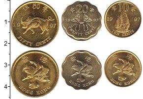 Изображение Наборы монет Гонконг Гонконг 1997 1997  UNC- В наборе 3 монеты но