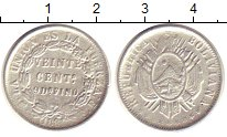 Изображение Монеты Боливия 20 сентаво 1881 Серебро XF
