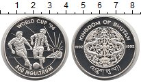 Изображение Монеты Бутан 300 нгултрум 1992 Серебро Proof-