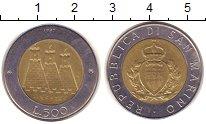Изображение Монеты Сан-Марино 500 лир 1987 Биметалл XF