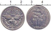 Изображение Монеты Новая Каледония 1 франк 2002 Алюминий XF Протекторат  Франции