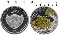 Изображение Монеты Палау 2 доллара 2011 Серебро UNC Цветная.  Мир  лягуш