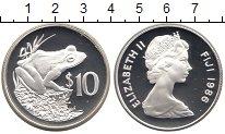 Изображение Монеты Фиджи 10 долларов 1986 Серебро Proof-