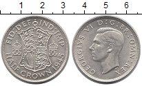 Изображение Монеты Великобритания 1/2 кроны 1945 Серебро UNC-