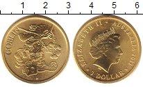 Изображение Монеты Австралия 1 доллар 2011 Латунь UNC Елизавета II. гоблин