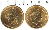 Изображение Монеты Австралия 1 доллар 2011 Латунь UNC Елизавета II. гриффи