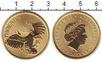 Изображение Монеты Австралия 1 доллар 2011 Латунь UNC Елизавета II. феникс