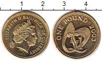 Изображение Монеты Гернси 1 фунт 2003 Латунь UNC-