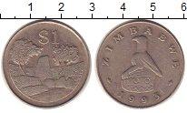 Изображение Монеты Зимбабве 1 доллар 1993 Медно-никель XF