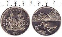 Изображение Монеты Сьерра-Леоне 1 доллар 2005 Медно-никель UNC- Бегемот