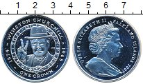 Изображение Монеты Фолклендские острова 1 крона 2007 Серебро Proof