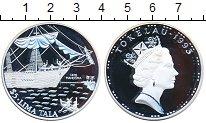 Изображение Монеты Токелау 5 долларов 1993 Серебро Proof Парусник
