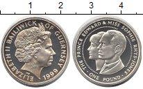 Изображение Монеты Гернси 1 фунт 1999 Серебро Proof- Елизавета II. Принц