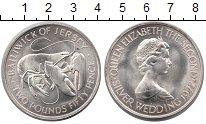 Изображение Монеты Великобритания Остров Джерси 2 1/2 фунта 1972 Серебро UNC