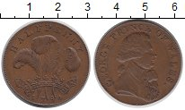 Изображение Монеты Великобритания 1/2 пенни 1794 Медь XF+