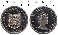 Изображение Монеты Остров Джерси 5 шиллингов 1966 Медно-никель UNC Елизавета II.  900 -