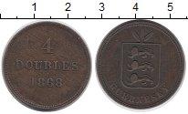 Изображение Монеты Гернси 4 дубля 1868 Медь XF Герб
