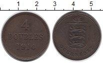 Изображение Монеты Гернси 4 дубля 1914 Бронза XF