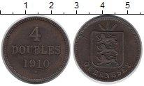 Изображение Монеты Гернси 4 дубля 1910 Бронза XF
