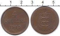 Изображение Монеты Гернси 4 дубля 1945 Бронза XF Герб