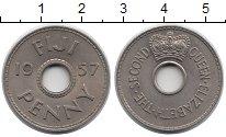 Изображение Монеты Фиджи 1 пенни 1957 Медно-никель XF