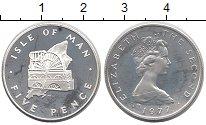 Изображение Монеты Остров Мэн 5 пенсов 1977 Серебро Proof-