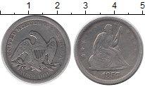 Изображение Монеты США 1/4 доллара 1857 Серебро VF Орел