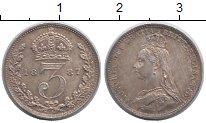 Изображение Монеты Великобритания 3 пенса 1887 Серебро XF