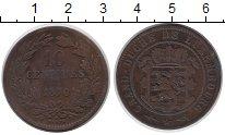 Изображение Монеты Люксембург 10 сантимов 1870 Бронза VF Герб