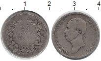 Изображение Монеты Нидерланды 25 центов 1848 Серебро VF