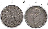 Изображение Монеты Нидерланды 25 центов 1849 Серебро XF
