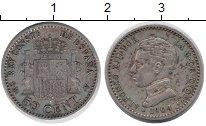 Изображение Монеты Испания 50 сентим 1904 Серебро VF