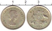 Изображение Монеты Австралия 6 пенсов 1961 Медно-никель XF Елизавета II