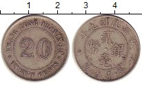 Изображение Монеты Китай Кванг-Тунг 20 центов 1920 Серебро XF