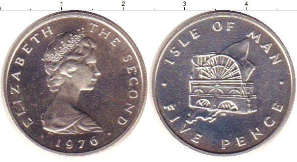 Картинка Монеты Остров Мэн 5 пенсов Серебро 1976