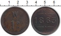 Изображение Монеты Ирландия 1 пенни 1863 Бронза XF