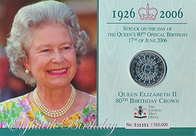 Изображение Подарочные наборы Тристан-да-Кунья Юбилей королевы Елизаветы 2006 Медно-никель  Подарочный набор пос
