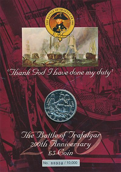 Изображение Подарочные наборы Великобритания Трафальгарская битва 2005 Медно-никель