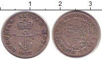 Изображение Монеты Британская Индия 1/16 доллара 1822 Серебро XF- Георг IV