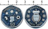 Изображение Монеты Редонда 50 центов 2010 Медно-никель UNC- Рождество